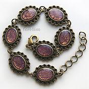 Украшения handmade. Livemaster - original item Bracelet with painted purple color. Handmade.