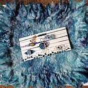 """Работы для детей, ручной работы. Ярмарка Мастеров - ручная работа Коврик валяный """"Сине-бирюзовая лагуна"""", аксессуар для фотосессии. Handmade."""