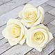 Заколки ручной работы. Ярмарка Мастеров - ручная работа. Купить Шпильки с розами (крупные) - Айвори кремовый. Handmade. Цветы в прическу