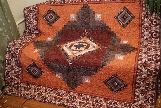 Текстиль, ковры ручной работы. Ярмарка Мастеров - ручная работа. Купить Покрывало-ковер. Handmade. Коричневый, покрывало, хлопок 100%