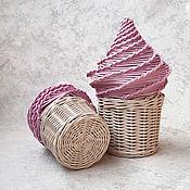 Элементы интерьера ручной работы. Ярмарка Мастеров - ручная работа Плетеная шкатулка для детской Мороженое. Handmade.