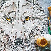 Одежда handmade. Livemaster - original item t-shirt Wolf. Handmade.