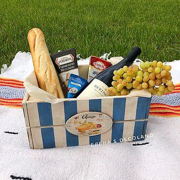 Для дома и интерьера ручной работы. Ярмарка Мастеров - ручная работа Корзины: Ящик для продуктов, для пикника. Handmade.