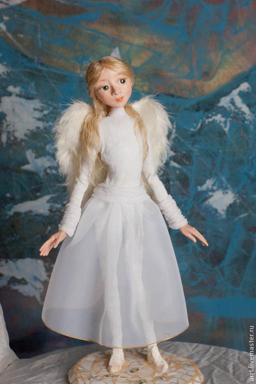 Сказочные персонажи ручной работы. Ярмарка Мастеров - ручная работа. Купить Ангел Кукла авторская интерьерная. Handmade. Голубой, ангелочек