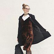 Одежда ручной работы. Ярмарка Мастеров - ручная работа Платье в бельевом стиле из бархата. Handmade.