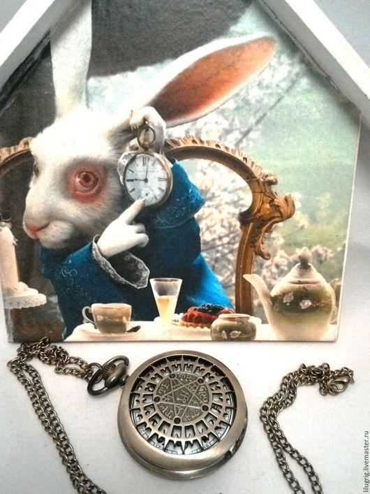 """Часы ручной работы. Ярмарка Мастеров - ручная работа. Купить Часы карманные """"Сверхъестественное"""". Handmade. Часы, часы на цепочке"""