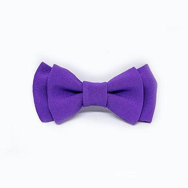 Accessories handmade. Livemaster - original item Bow tie purple children. Handmade.