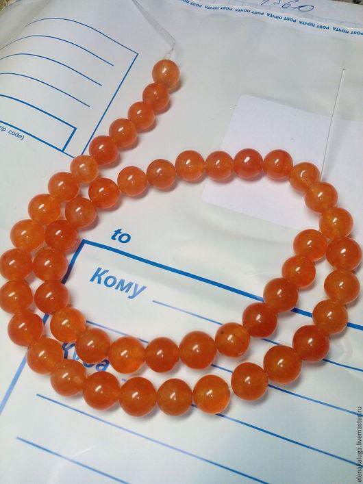 Для украшений ручной работы. Ярмарка Мастеров - ручная работа. Купить Агат оранжевый 8 мм.. Handmade. Оранжевый, агат