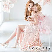 Одежда handmade. Livemaster - original item Pink dresses for mom and daughter