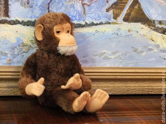 Винтажные куклы и игрушки. Ярмарка Мастеров - ручная работа. Купить Символ 2016 года - старинная обезьянка немецкой фирмы Steiff. Handmade.