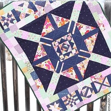 """Для дома и интерьера ручной работы. Ярмарка Мастеров - ручная работа Покрывало панно, одеяло, """"Геометрическая вселенная"""". Детское.. Handmade."""