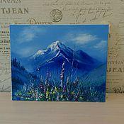 """Картины ручной работы. Ярмарка Мастеров - ручная работа Картина маслом """"Цветущая поляна в горах"""". Handmade."""