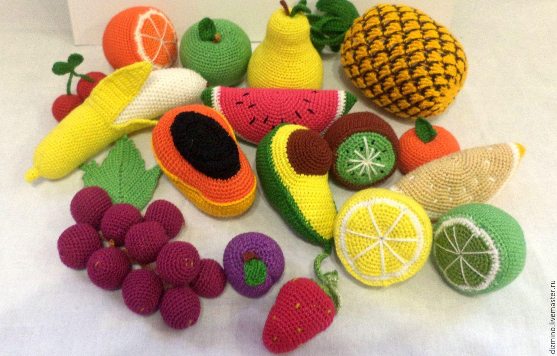 Вязание крючком игрушек овощи и фрукты