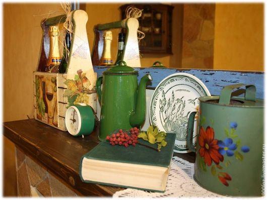 """Корзины, коробы ручной работы. Ярмарка Мастеров - ручная работа. Купить """"Vino, olive, parmigiano"""" короб для бутылей.. Handmade. Сыр"""