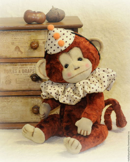 Мишки Тедди ручной работы. Ярмарка Мастеров - ручная работа. Купить Обезьянка Лоло (обезьянка тедди, винтажный плюш). Handmade.