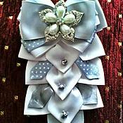 Аксессуары handmade. Livemaster - original item Bow tie brooch made of satin and REP ribbons. Handmade.
