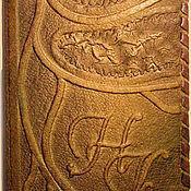 Канцелярские товары ручной работы. Ярмарка Мастеров - ручная работа Кожаная обложка для паспорта с инициалами на заказ. Handmade.