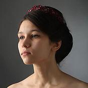 Украшения handmade. Livemaster - original item Embroidered tiara with Swarovski