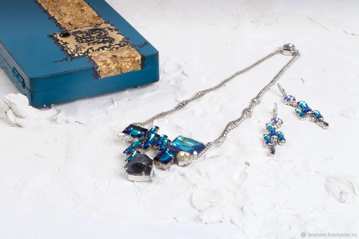 Set of necklaces and earrings ' Bermuda', Necklace, Moscow,  Фото №1