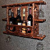 Для дома и интерьера ручной работы. Ярмарка Мастеров - ручная работа Полка для вина с подсветкой. Handmade.