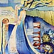 """Люди, ручной работы. Ярмарка Мастеров - ручная работа. Купить Картина """" Время-Песок"""". Handmade. Разноцветный, батик картина"""
