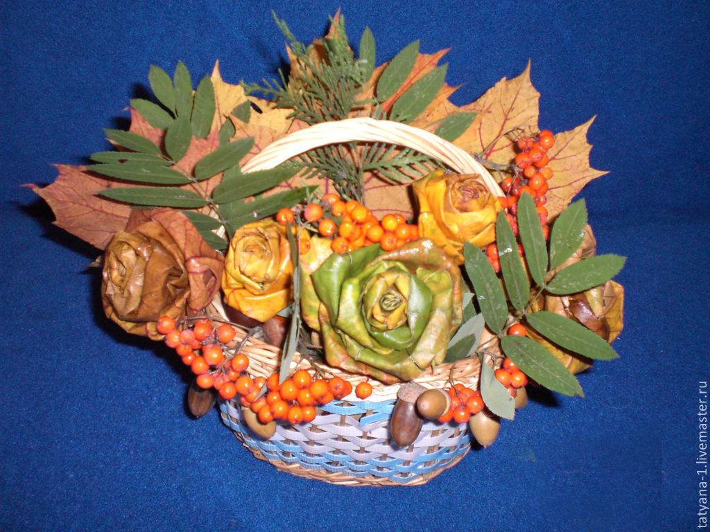 Осенние букеты своими руками из природного материала в школу фото 20
