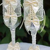 """Свадебный салон ручной работы. Ярмарка Мастеров - ручная работа Свадебные бокалы   """"Айвори"""". Handmade."""