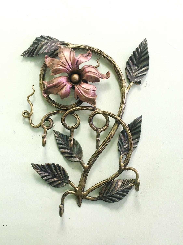 Ключница Цветок на 5 крючков, Ключницы настенные, Москва,  Фото №1