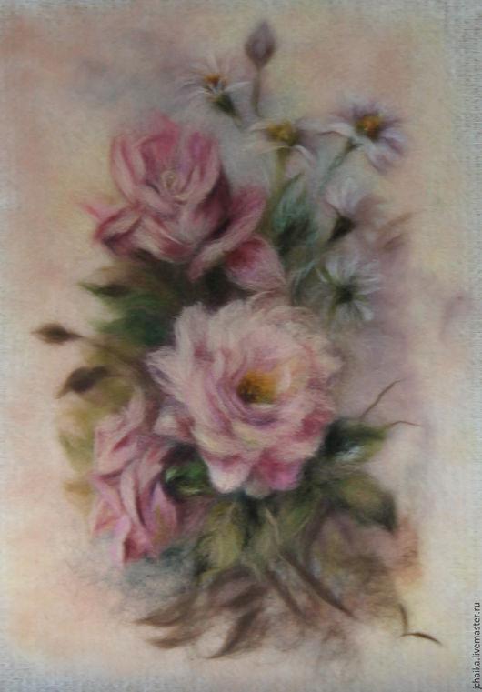 Картины цветов ручной работы. Ярмарка Мастеров - ручная работа. Купить Гармония. Handmade. Бледно-розовый, нежный букет