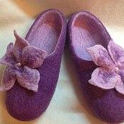 """Обувь ручной работы. Ярмарка Мастеров - ручная работа Тапочки женские """"Сирень"""". Handmade."""