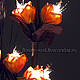 Цветок-светильник Сано Желтая