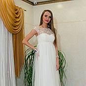 Свадебный салон ручной работы. Ярмарка Мастеров - ручная работа Свадебное платье греческое в стиле ампир нежнейшее вышевка. Handmade.