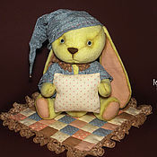 Куклы и игрушки ручной работы. Ярмарка Мастеров - ручная работа Зайка Сладкий сон. Handmade.