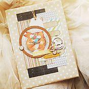 Канцелярские товары ручной работы. Ярмарка Мастеров - ручная работа Дневник беременности Лисята. Handmade.