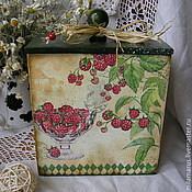 """Для дома и интерьера ручной работы. Ярмарка Мастеров - ручная работа короб """"Ягода малина"""". Handmade."""