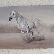 Картины и панно ручной работы. Ярмарка Мастеров - ручная работа картина белоснежный. Handmade.