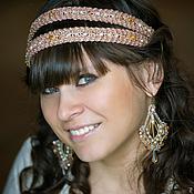 Украшения handmade. Livemaster - original item Double Greek headband and crystal earrings. Handmade.