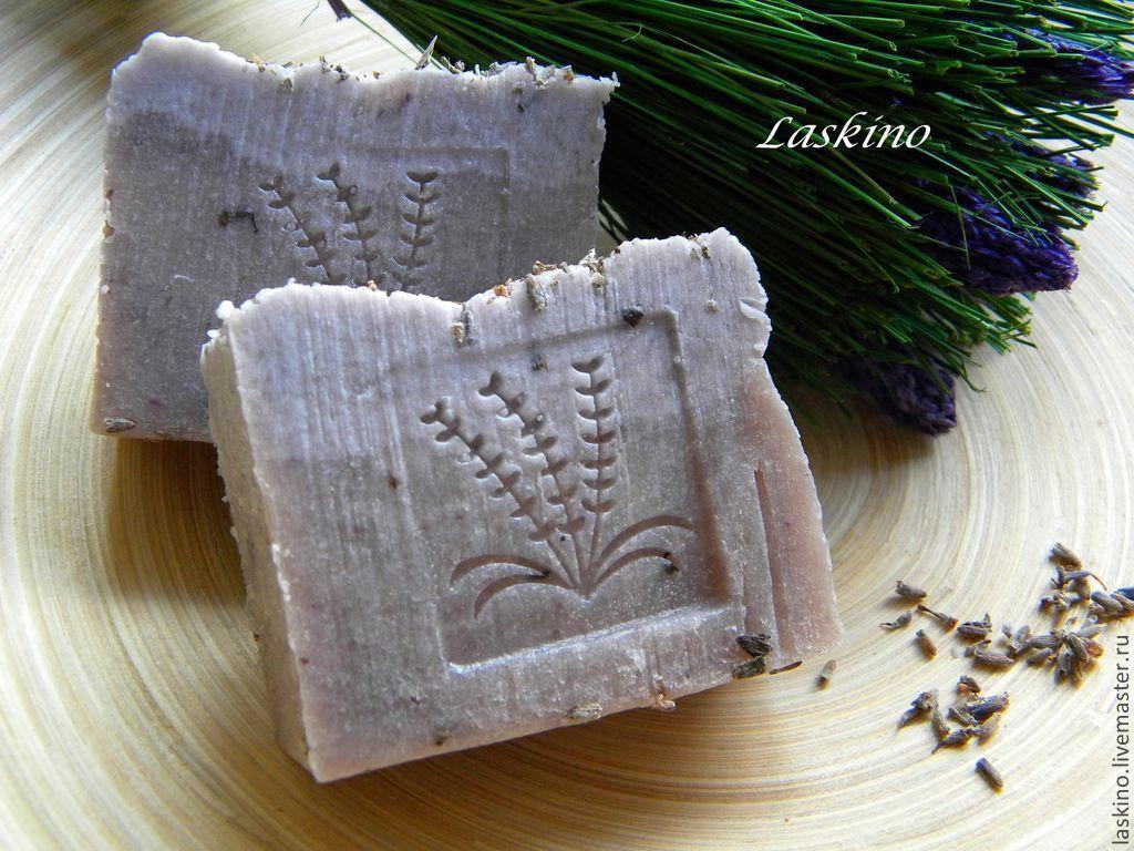 Мыло ручной работы. Ярмарка Мастеров - ручная работа. Купить Мыло 'ЛАВАНДА', натуральное  с нуля. Handmade. Сиреневый, мыло с лавандой
