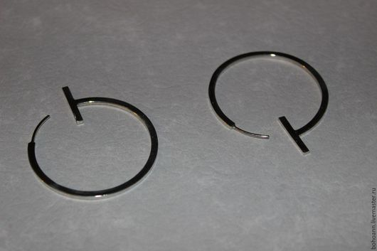 Серьги ручной работы. Ярмарка Мастеров - ручная работа. Купить Серьги кольца. Handmade. Серебряный, серебряные украшения, кольца, геометрический