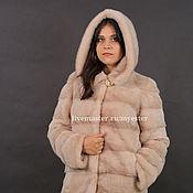 Одежда ручной работы. Ярмарка Мастеров - ручная работа Шуба норковая 90 см цвет розовый. Handmade.
