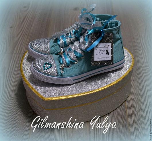 Детская обувь ручной работы. Ярмарка Мастеров - ручная работа. Купить Ключ от счастья. Handmade. Морская волна, для детей