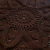 Для дома и интерьера handmade. Livemaster - original item Handmade carpet from cord Chocolate Flower. Handmade.