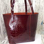 Сумки и аксессуары handmade. Livemaster - original item Shopper genuine leather. Handmade.