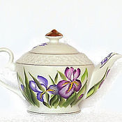 Посуда handmade. Livemaster - original item Teapot with painting