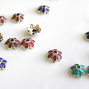 Материалы для творчества handmade. Livemaster - original item Accessories for jewelry: caps for colored beads. Handmade.
