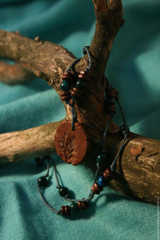 """Кулоны, подвески ручной работы. Ярмарка Мастеров - ручная работа. Купить Подвески """"Травы"""". Handmade. Комбинированный, керамика"""