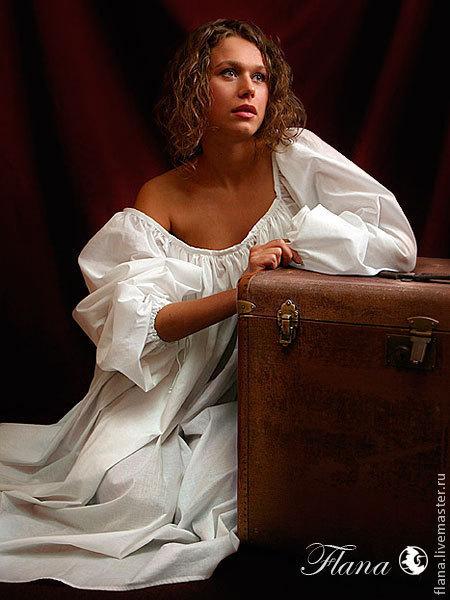 Женская рубашка в романтическом стиле, Ренессанс
