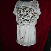 """Одежда ручной работы. Ярмарка Мастеров - ручная работа вышитое белое летнее платье""""бутоны мака"""". Handmade."""