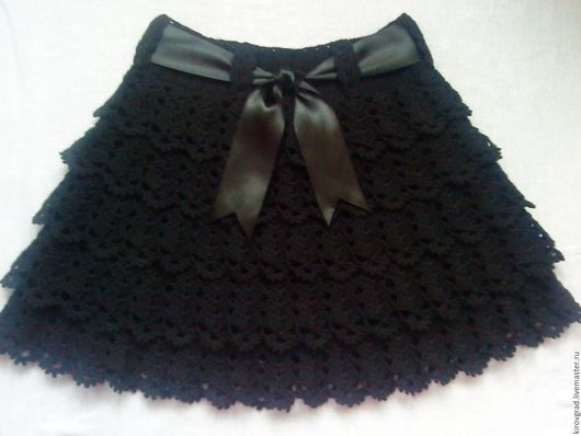 Одежда для девочек, ручной работы. Ярмарка Мастеров - ручная работа. Купить Юбка для девочки. Handmade. Черный, однотонный, юбка для девочки