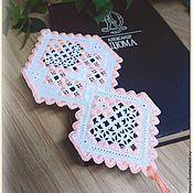 Канцелярские товары handmade. Livemaster - original item Bookmark for books with hand-embroidery. A romantic gift.. Handmade.
